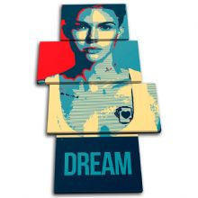 Ruby Rose Dream Abstract - 13-6098(00B)-MP04-PO